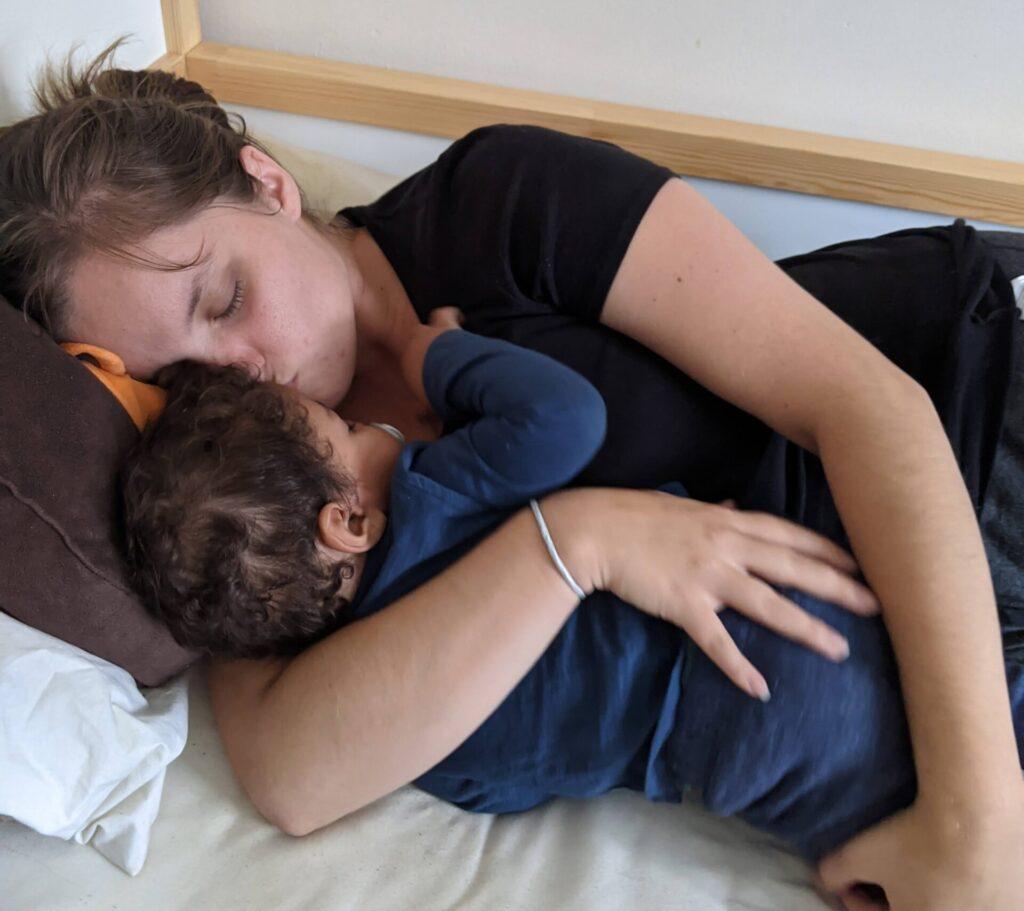 Cuddling toddler